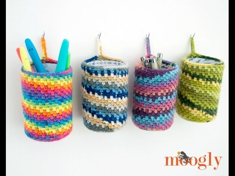 How to Crochet: Crafty Hanging Can Cozy (Right Handed)