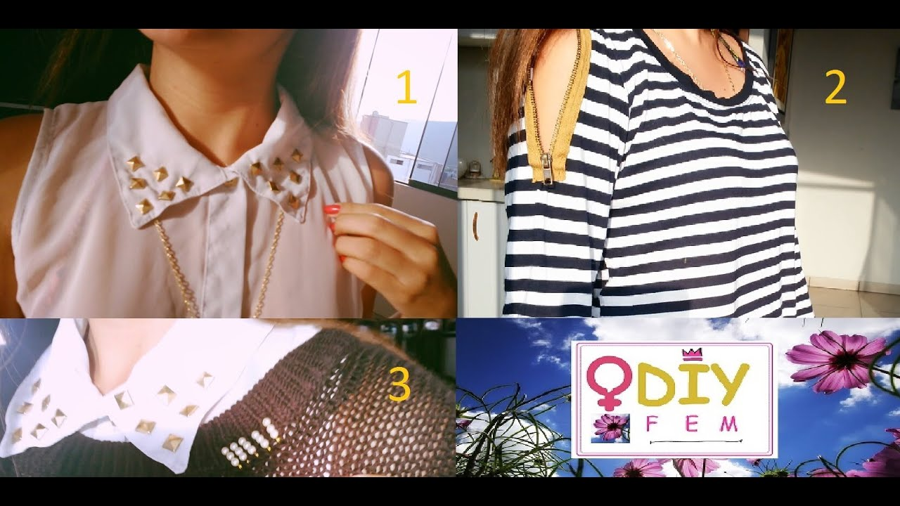 Diy 3 ideas para decorar tu ropa muy facil youtube for Como reciclar ropa interior