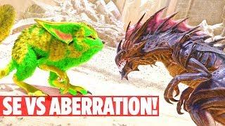 ALL ABERRATION DINOS VS ALL SCORCHED EARTH DINOS MASSIVE BATTLE Ark Survival Evolved Aberration