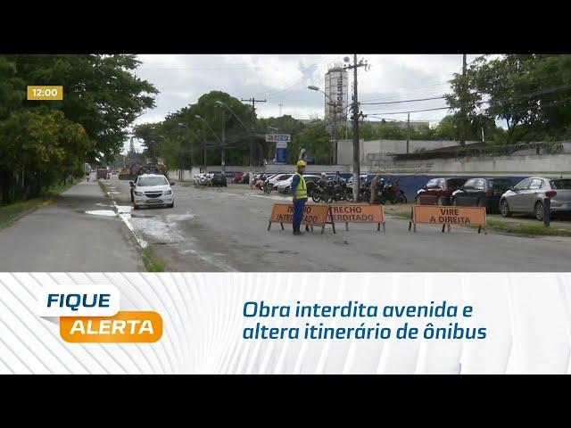 Distrito Industrial: Obra interdita avenida e altera itinerário de ônibus