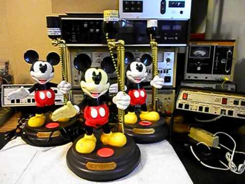 Disney Animated Mickey Mouse Lamp Repair Www.A1 Telephone.com 618 235 6959