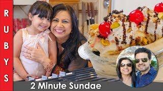2 Minute Microwave Vanilla Cake Sundae for Kids Ruby ka Kitchen Recipe in English - RKKE