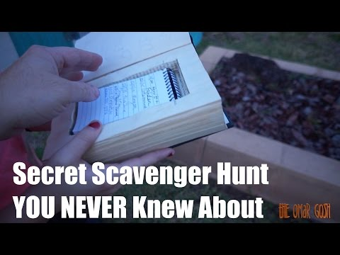 Secret Worldwide Scavenger Hunt - GeoCaching For The First TIME