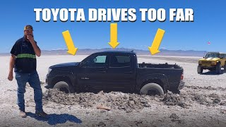 You took your Tacoma where?!? (Salt flats rescue)
