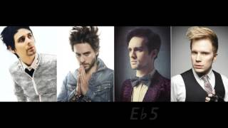 Vocal Range Battle: Matt Bellamy, Jared Leto, Brendon Urie and Patrick Stump