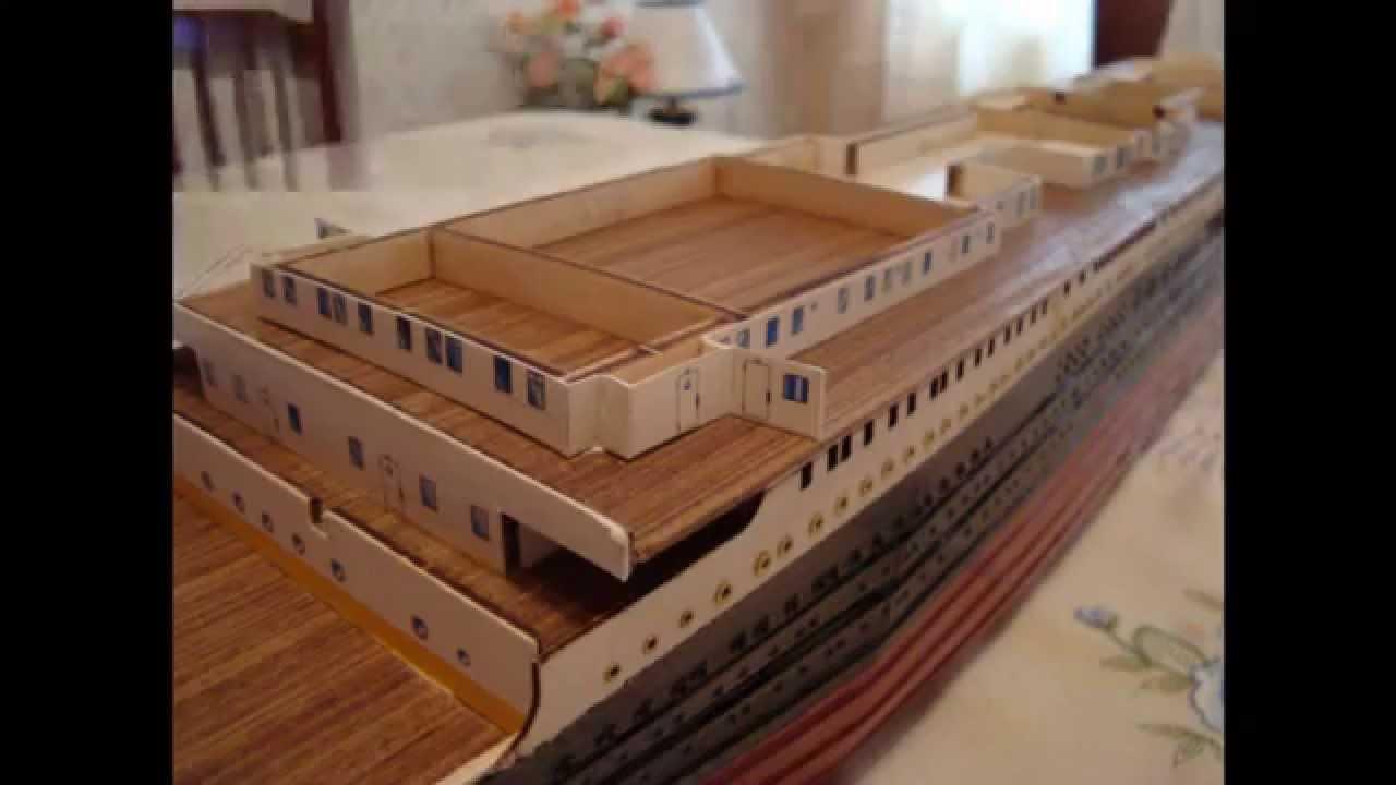 Maqueta titanic parte 2 youtube - Construccion del titanic ...