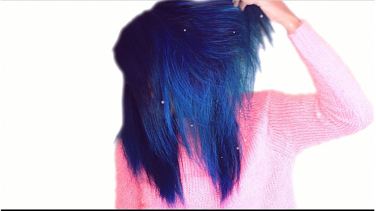 Multicolored Blue Fall Hair Tutorial Using Adore Semi Permanent Dye