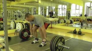 "Тяжелая атлетика""Отработка толчка штанги"" Weightlifting"