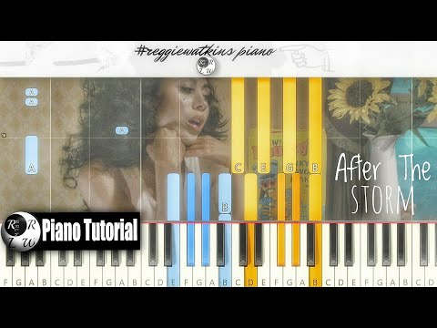 🌻Kali Uchis  After The Storm ft Tyler The Creator, Bootsy Collins #reggiewatkins piano tutorial