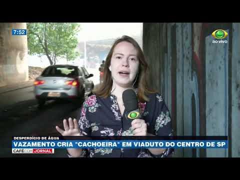 SP: Vazamento Em Viaduto Gera Desperdício Há 20 Dias