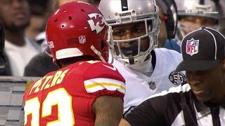 Amari Cooper & Michael Crabtree vs Marcus Peters (2017 wk 7) | WR vs CB Matchup