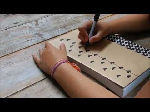 Diy Tutorial Decorate Your Schoolbooks Youtube