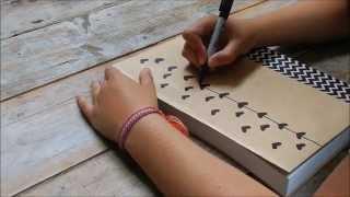 DIY tutorial: decorate your schoolbooks!