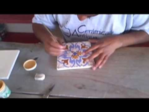 Ceramic Tile - Making Hand Painted Tiles - YouTube