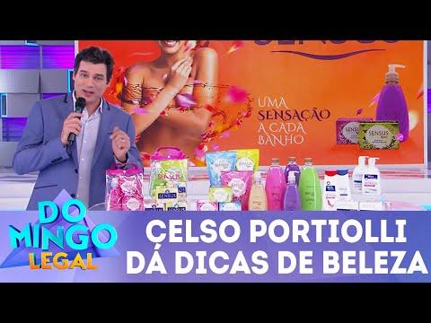 Celso dá dicas de beleza | Domingo Legal (05/08/18)