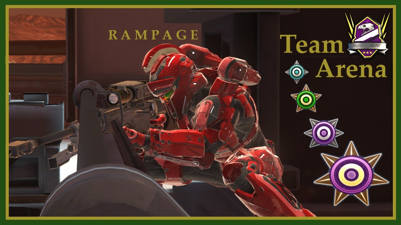 Halo 5 - RAMPAGE in Champion Arena! Rig Slayer Gameplay