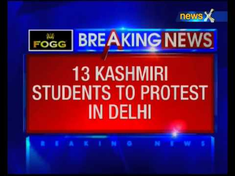 13 kashmiri students to protest in Delhi, delay in scholarship led to students expulsion