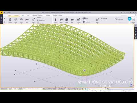 Rhino 3D - Grasshopper - Tekla: roof space frame