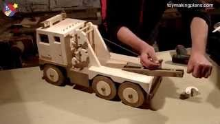 Wood Toy Plans - Big Rig Wrecker Truck