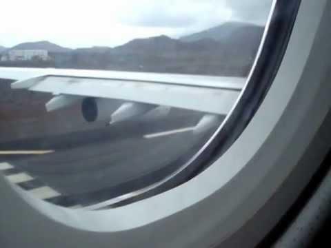 Ascension Islands A340 HI FLY Takeoff