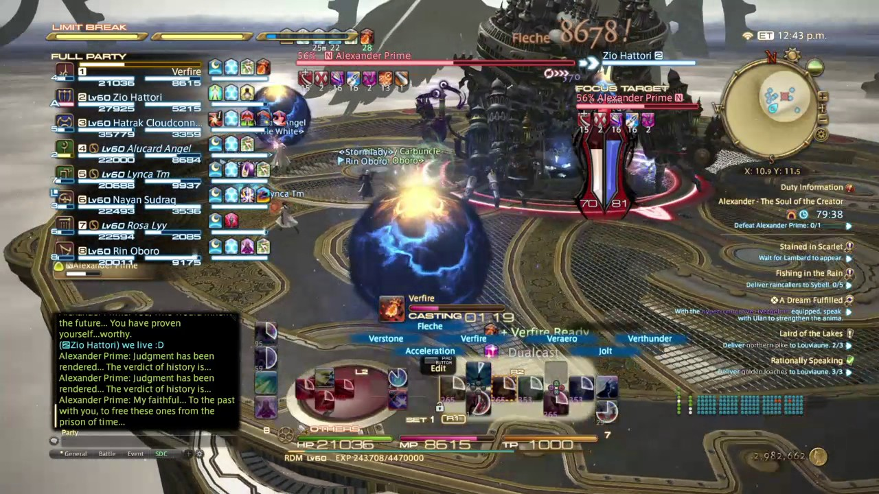 [FFXIV] My first Red Mage A12 (LB3 included!)