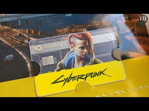 Как выглядит карта киберпанка от ЮMoney – распаковка пластиковой Visa с дизайном Cyberpunk 2077