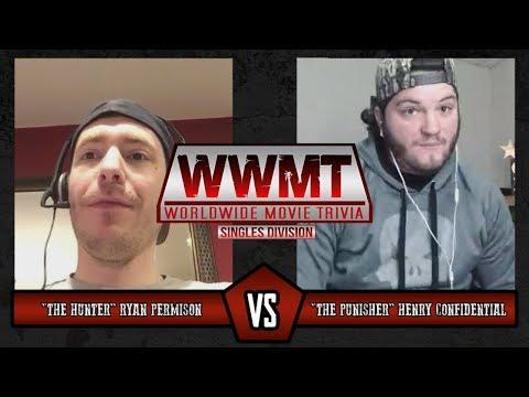 Henry Confidential Vs Ryan Permison - Worldwide Movie Trivia: Singles League