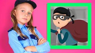 Майя играет в профессию полицейского