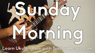 Sunday Morning - Maroon 5 - Ukulele Tutorial - Super Easy Beginner Song - Chordal Fills tutorial