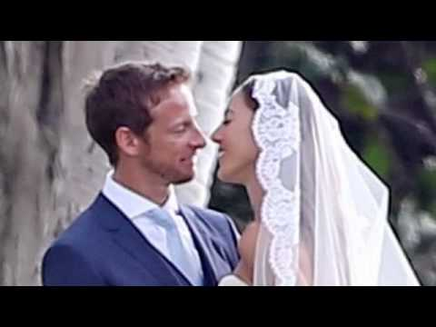 She's The (Formula) One: Jenson Button Looks Ecstatic As He Weds His Beautiful Bride Jessica