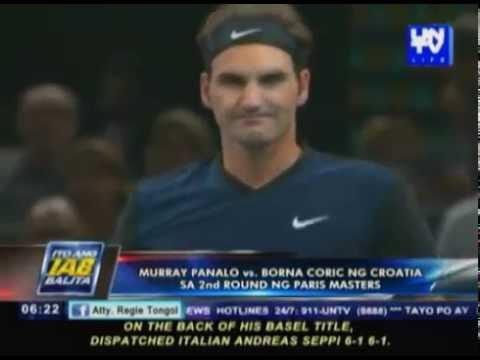 Murray panalo vs Borna Coric ng Croatia sa 2nd round ng Paris Masters
