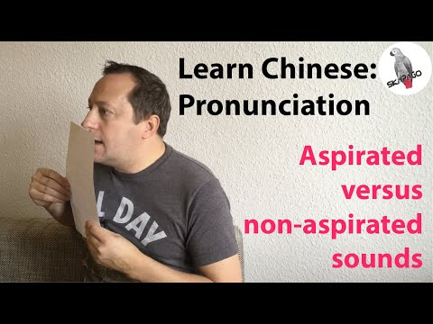 Chinese pronunciation: aspirated