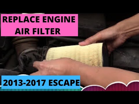 "How to replace ""Engine Air Filter"" 2013-2017 Ford Escape (DIY)"