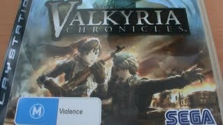 Valkyria Chronicles PS3 Unboxing