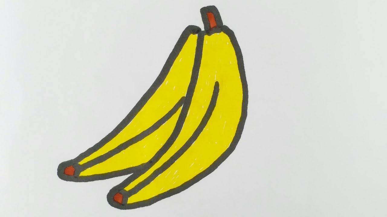 How To Draw And Color Banana Easy Drawing Step By Step For Kids