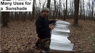 Sun Shade Turned Camp Mat , Ground cloth, Survival Blanket