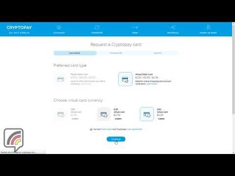 BTC  Tutorial: BITCOIN-Kreditkarte mit - CryptoPay - SCHNELL selbst erstellen