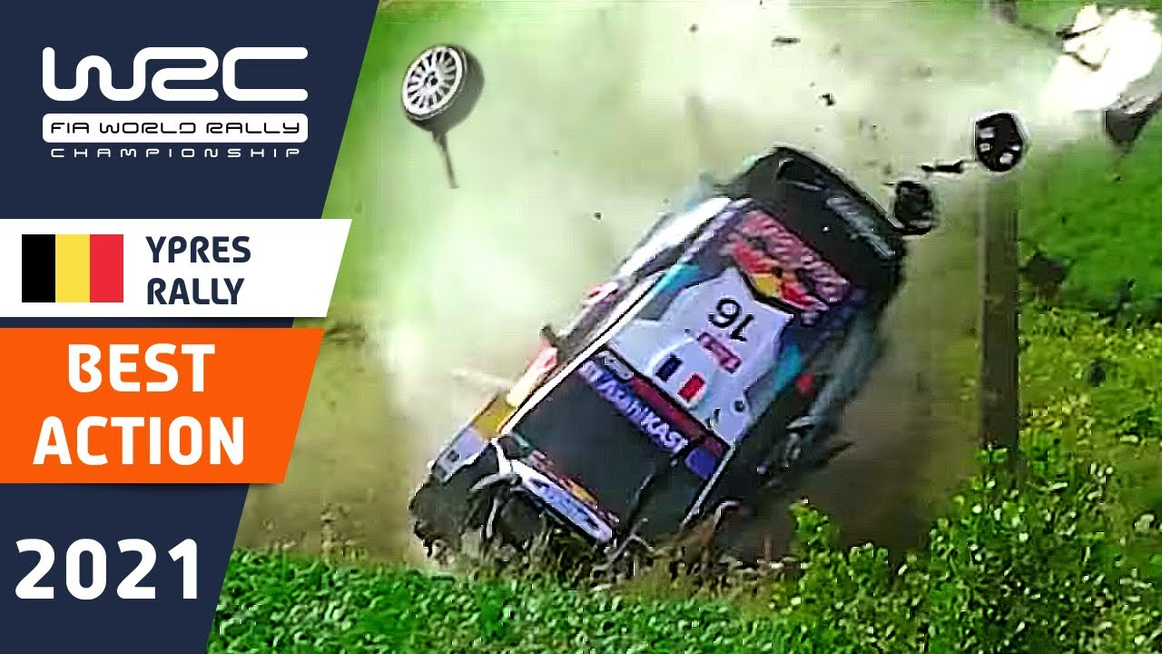 WRC Best Action : Renties Ypres Rally Belgium 2021 : Rally Crashes and Flat Out Action!