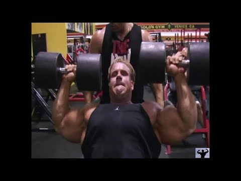 JAY CUTLER's HEAVY SHOULDER TRAINING IN GOLD'S GYM 2006