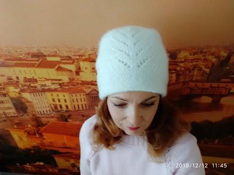 Вязание двойной шапки спицами для женщин видео