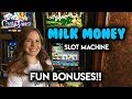 Milk Money Slot Machine! Cow Race BONUS!