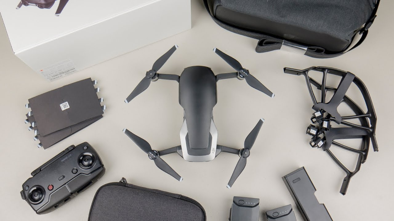 dji mavic air fly more combo unboxing youtube. Black Bedroom Furniture Sets. Home Design Ideas