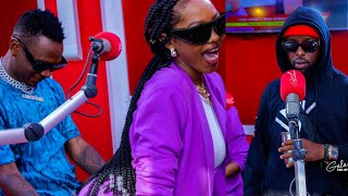 Eddy Kenzo, Fik Fameica and Spice Diana on the Galaxy FM Big Bang