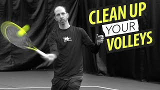 CLEAN UP your Volleys - forehand volley lesson