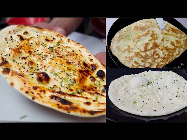 नऐ तरीके से तवे पर बनाए झटपट तंदूरी नान | How To Make Tandoori Naan On Tawa | Tawa Naan Recipe.