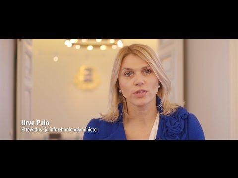 Ettevõtlus- ja infotehnoloogiaminister Urve Palo Vabariigi Valitsuse 100 päeva tegevustest