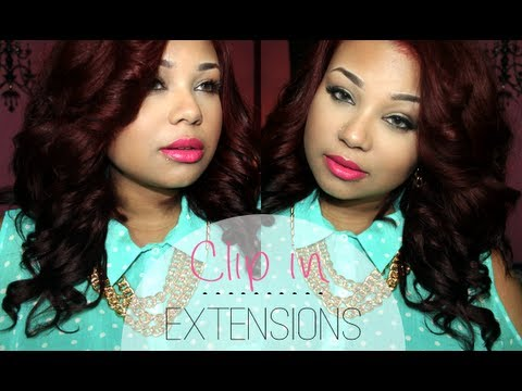 RED HAIR | HOW TO CLIP IN EXTENSIONS & STYLE