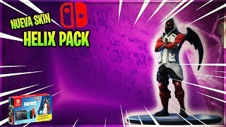 PLAYING WITH THE NEW HELIX PACK SKIN // NINTENDO SWITCH PACK FORTNITE BATTLE ROYALE