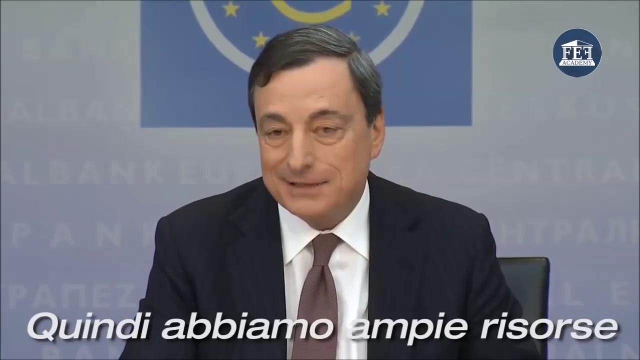 Draghi ammette che la BCE non può fallire perchè crea denaro dal nulla!