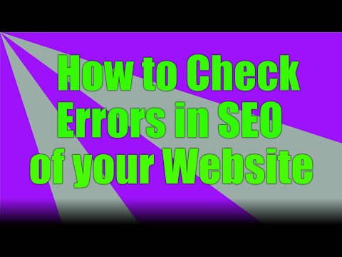 How to Check error in seo of your website